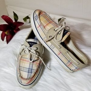 Womens SPERRY Topsider Plaid Size 7.5